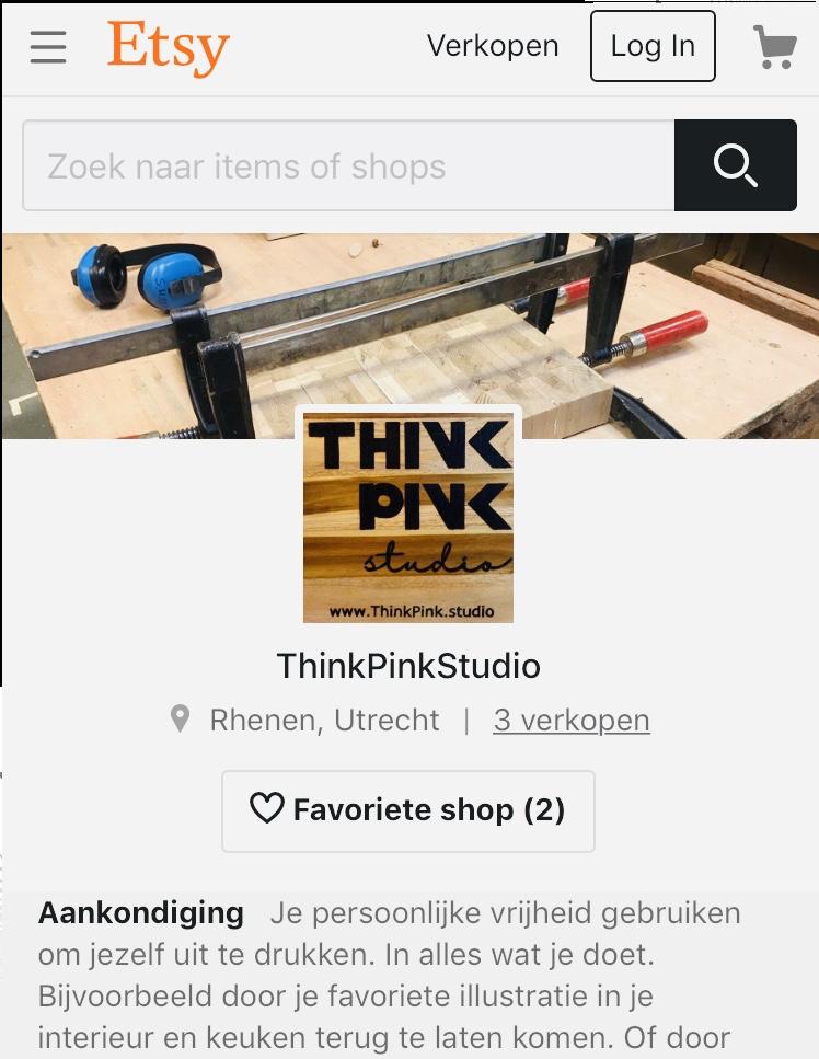 Shop van Think Pink Studio op Etsy