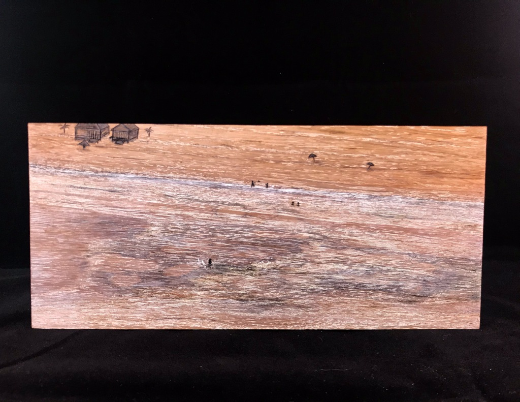 Diving on the Reef, wooden painting